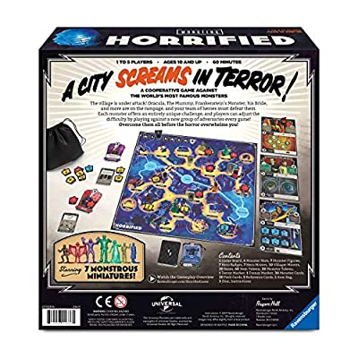 Ravensburger Horrified: Universal Monsters Strategy Board Game for Ages 10 & Up (60001836): Toys & Games