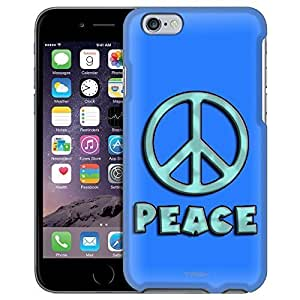 Apple iPhone 6 Case, Snap On Cover by Trek Turquoise Peace on Blue Case