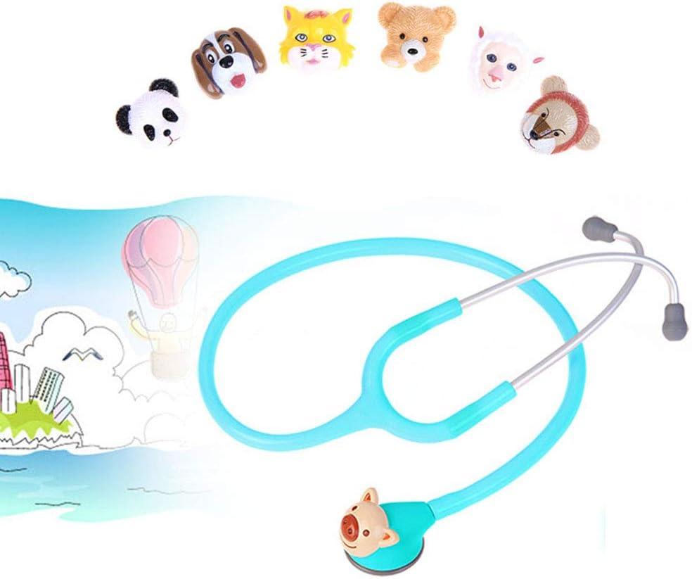 DZWJ Estetoscopio pediátrico, tecnología AFD con 6 Animales de Dibujos Animados Ajustables Que reducen el Miedo de los niños al Examen físico Pediatra Especial