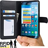 Note 3 Case, Abacus24-7 Galaxy Note 3 Wallet Case [Book Fold] Leather Note 3 Cover [Flip Cover] with Foldable Stand, Pockets for ID, Credit Cards - Blue Flip Case for Samsung Note 3