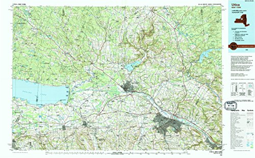 Utica NY topo map, 1:100000 scale, 30 X 60 Minute, Historical, 1985, updated 1994, 24.1 x 39 IN - Paper
