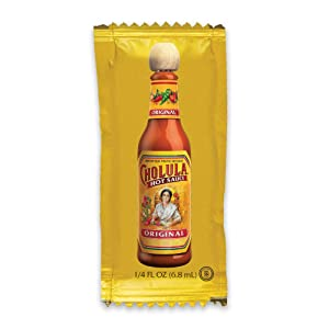 Cholula Original Hot Sauce | 200ct 0.25oz Single Serve Packets | Crafted from Mexican Peppers and Signature Spice Blend | Gluten Free, Kosher, Vegan, Sugar Free | Best Thing to Ever Happen to Food