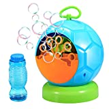 Geekper Bubble Machine Automatic Blower Durable Maker with 1 Bottles of Solution Refill Over 500 Colorful Per Minute Use