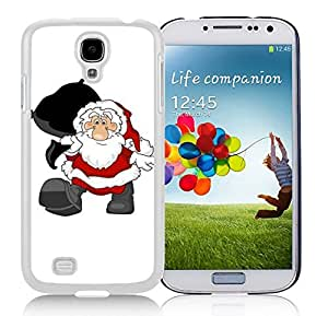Galaxy S4 Case,Black Gifts Bag Christmas Santa Grandpa Christmas Series-TPU White S4 Protective Case,Samsung S4 I9500 Case