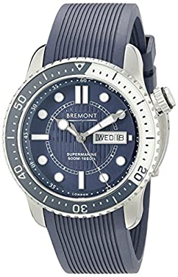 Bremont Men's S500/BL Analog Display Swiss Automatic Blue Watch