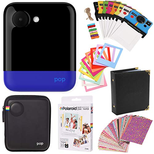 Polaroid POP 2.0 Instant Digital Camera (Blue) Gift Bundle + Paper (10 Sheets) + Case + Photo Album + Frames + Stikcer Sets and More