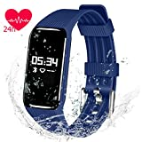 Fitness Tracker Watch - QIMAOO K1 Fitness Activity Tracker Smart Bracelet Pedometer with Sleep Monitor IP68 Waterproof Bluetooth Touch Screen Women Men for iOS & Android