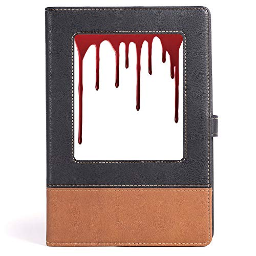 Horror - College Ruled Notebook/Composition/Journals/Dairy/Office Note Books - Flowing Blood Horror Spooky Halloween Zombie Crime Scary Help me Themed Illustration - 100 Ruled Sheets - A5/6.04x8.58 -