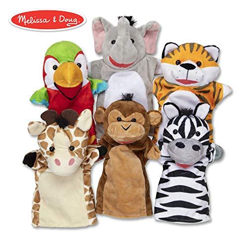 Melissa & Doug Safari Buddies Hand Puppets Puppet Set (6 Hand Puppets)