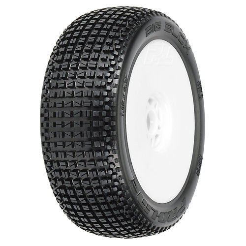 ProLine 9048033 Big Blox X3 Soft Off Road 1/8 Buggy Tires Mntd On Lightweight Velocity Wheels, - Lightweight Buggy