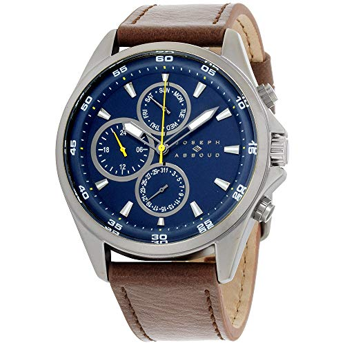 Joseph Abboud Navy Dial Leather strap Men's Watch JA3207GY648-709, Navy/Brown