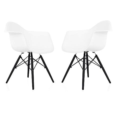 Cool Amazon Com Cozyblock Set Of 2 Eames Style Daw Scandinavian Cjindustries Chair Design For Home Cjindustriesco