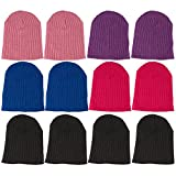 Energi8_Wholes Kids Excell Beanie Hat Warm Acrylic Cap (12 Pack, Assorted B)