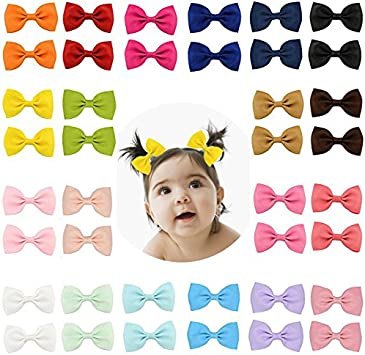 Girls Kids Baby Toddler Hair Alligator Clip Bow Pin Deluxe Grosgrain Ribbon UK
