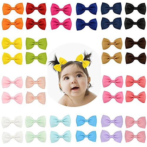 40pcs Boutique Baby Girl Hair Clips Flower Grosgrain Ribbon Bows for Toddlers Teens Kids Little Girls Barrettes 20 in Pair MyLot
