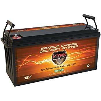 Amazon Com Vmaxtanks Slr125 Agm 12v 125ah Battery For