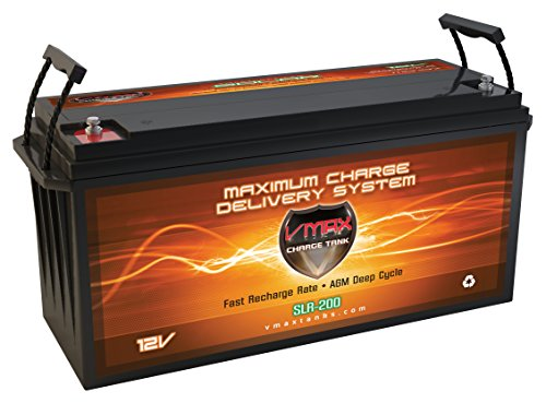 VMAXSLR200 Vmaxtanks AGM 200ah EA Solar Wind Power Backup AGM 12V VMAX Battery by VMAX Solar