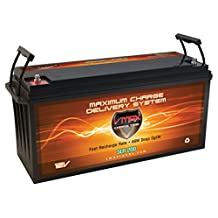 VMAX SLR200 Group 4D 2.66kWh 12V 200AH AGM Deep Cycle 12 Volt Battery for Solar Power House Tiny Home Off Grid Battery