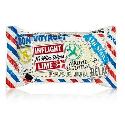 Inflight Mini Wipes - Lime