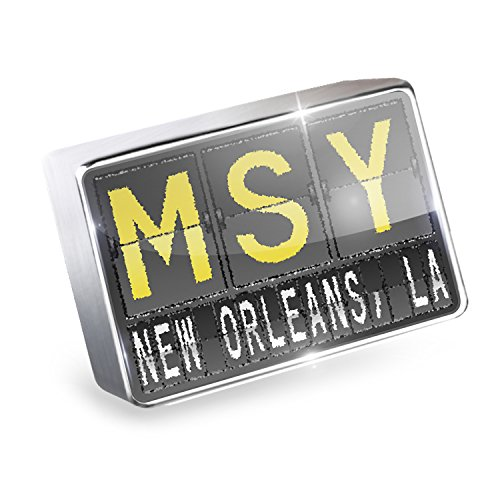 Floating Charm MSY Airport Code for New Orleans, La Fits Glass Lockets, - Orleans New Airport Shops