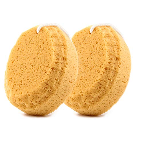 BAIMEI Bath Sponge, Shower Sponge, Loofahs Pouf Cleaning Body Luffa Sponge (2pcs)