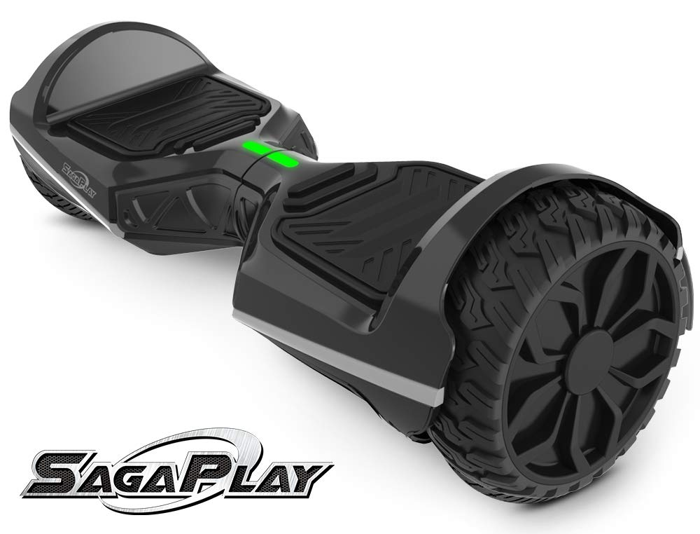 SagaPlay Self Balancing Scooter Hover Self-Balance Board w/Wireless Speakers - UL2272 Certified, 220W Dual-Motor, 6.5'' Electric Powered Board Hover [F1 Series, Black (WT42)]