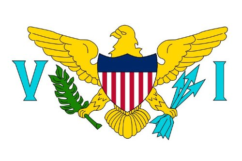 TUC 3x5 Polyester Flag of U.S. Virgin Islands ()