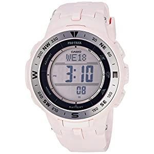 Casio Women's 'Pro Trek' Quartz Resin Watch, Color:Pink (Model: PRG-330-4CR)