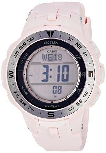 Casio Women's 'Pro Trek' Quartz Resin Watch, Color:Pink (Model: PRG-330-4CR)