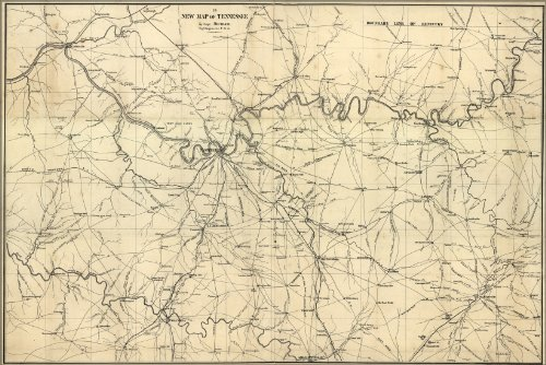 Poster Map Of Nashville Region Tennessee 1860 Antique Reprint