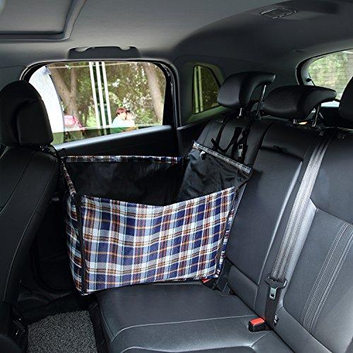 Lalawow Autositz Autoschondecke Rückbank Transporttasche Tragetasche für Hund und Katze 65 x 35 x 45 cm