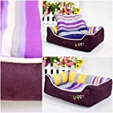 1Pc Bang-up Popular Pet Bed Size L Puppy Blanket Furniture Warm Cushion Color Purple
