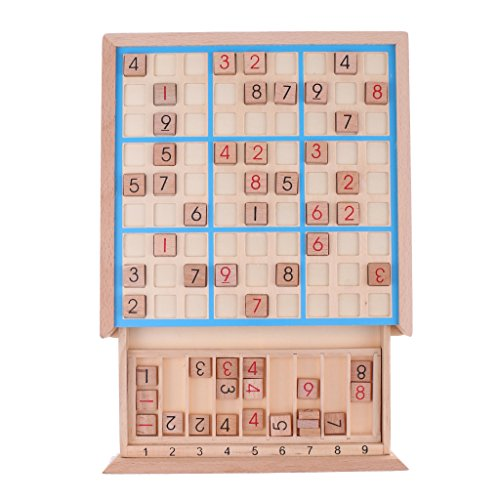 Sala-Fnt - Wooden Sudoku Board Game Chess Number Digital Puzzles Math Toy Children Educational Developmental Baby Toys