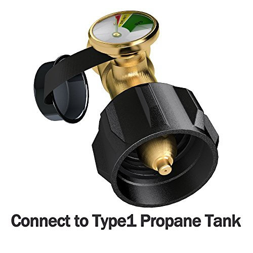GASPRO Propane Tank Gauge Level Indicator/Leak Detector for QCC1 Propane Tank,Heater,Grill and Other Propane Appliance-100% Solid Brass Heavy-Duty