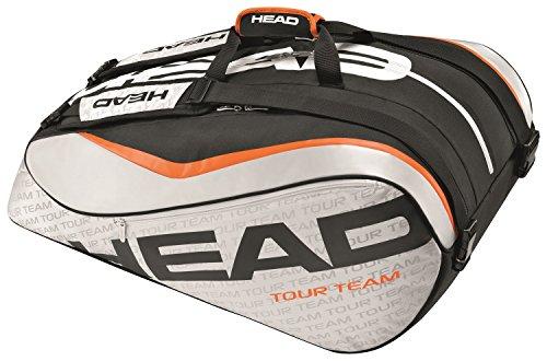 (HEAD Tour Team 12R Monstercombi Tennis Bag, Silver/Black)