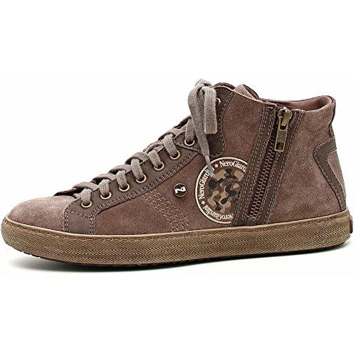 Verdegris Ante Piel nbsp;� a309620d Tortora Mujer nbsp;Sneaker Giardini Negro q8g7Pg