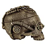 Design Toscano Steampunk Skull Containment Vessel Sculpture 7