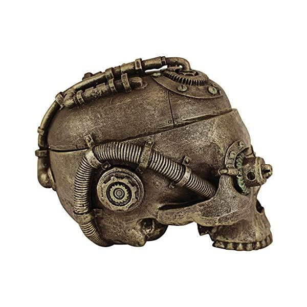 Design Toscano Steampunk Skull Containment Vessel Sculpture 4