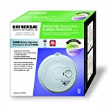 Universal Security Instruments CD-9775 9-Volt Battery Operated Combination Ionization Smoke and Carbon Monoxide Alarm