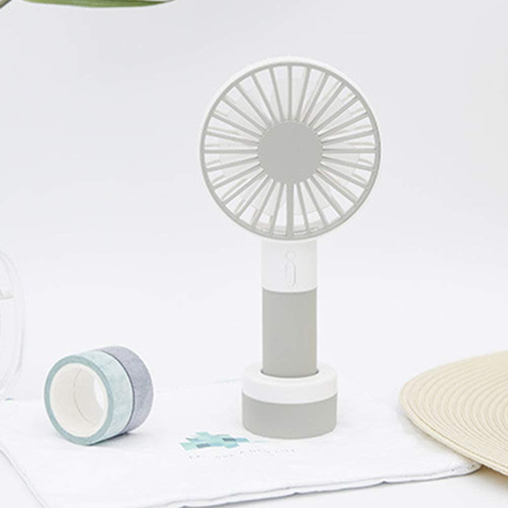 shengyuze Mini Fan Handheld Rechargeable USB 3 Speed Outdoor Table Fans with LED Light Base Red
