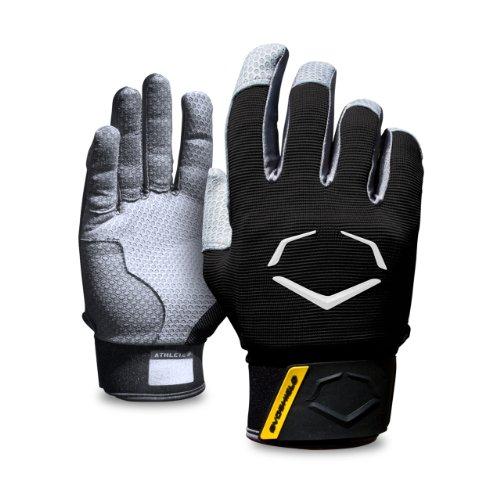 EvoShield ProStyle Protective Batting Gloves, Black, Large by EvoShield