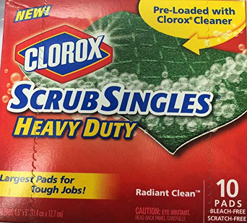 Clorox Scrub Singles Heavy Duty Scouring Pads, 10 -