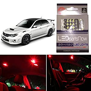 LEDpartsNow Subaru WRX STI 2004 2015 Red Premium LED Interior Lights  Package Kit (8 Pieces)