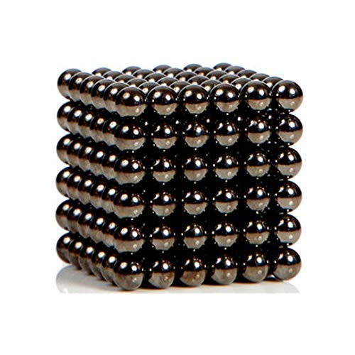 Magnet Neodymium Spheres - Magnetic Stress Relief Balls 5mm DIY Buildable Magnets Toy for Fun or Decoration(Black, 216PCS)