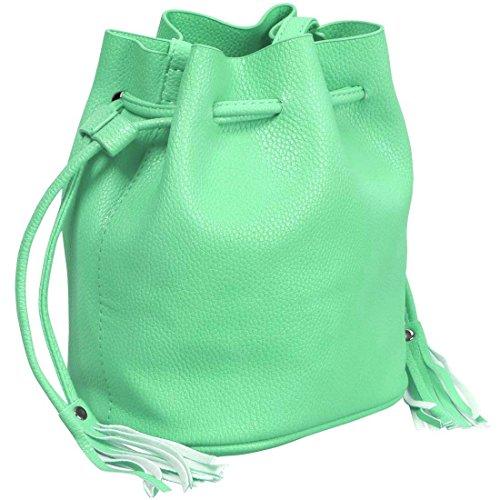 Crème sac ceinture de main cuir menthe mini à BMC style cordon Womens sac simili texturé 1OwH7q0YF