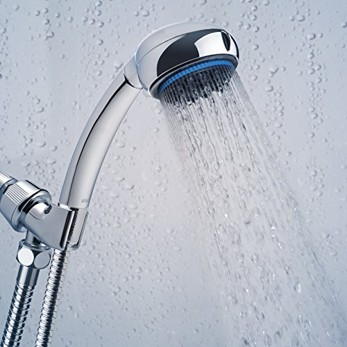 Hand Shower Head Handheld Shower-High Pressure With Bracket And Hose For Bathroom 8 Function Luxury Spa Chrome Adjustable Detachable Full Flow Massage Rain Waterfall For The Ultimate Shower Experience by Showerstorm