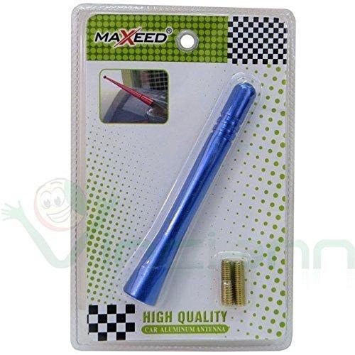 Antena corta coche universal aleaci/ón de aluminio metal 9 cm radio car tuning azul