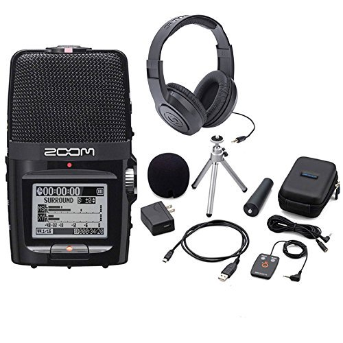 (Zoom H2n Handy Handheld Digital Multitrack Recorder Bundle with APH-2n Accessory Pack and Headphones)
