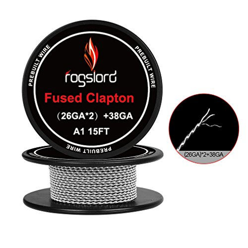 Fused Clapton Wire Kanthal A1 Resistance Wire 15 ft. AWG (26GAx2)+38GA Prebuilt Wire for Household Wiring Use by FL Wire (Image #3)