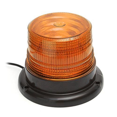 MATCC Car Truck LED Emergency Strobe Light Magnetic Warning Beacon Lights with 12v Cigarette Lighter Plug Amber Upgraded Version Yellow